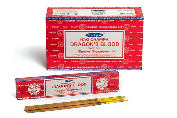 Satya Dragons Blood Incense Sticks - 180 Grams - The Hippie House