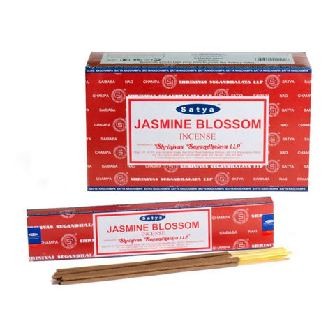 Satya Jasmine Blossom Incense Sticks - 180 Grams - The Hippie House
