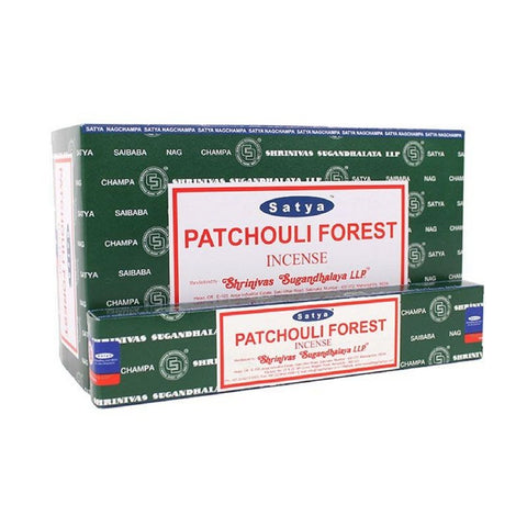Satya Patchouli Forest Incense Sticks - 180 Grams - The Hippie House