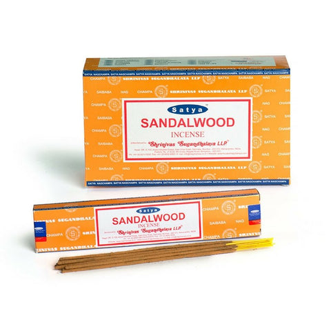 Satya Sandalwood Incense Sticks - 180 Grams - The Hippie House