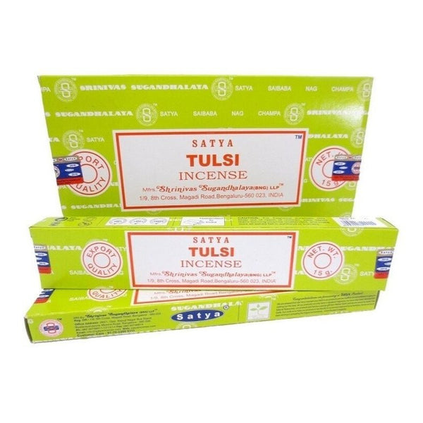 Satya Tulsi Incense Sticks - 180 Grams - The Hippie House
