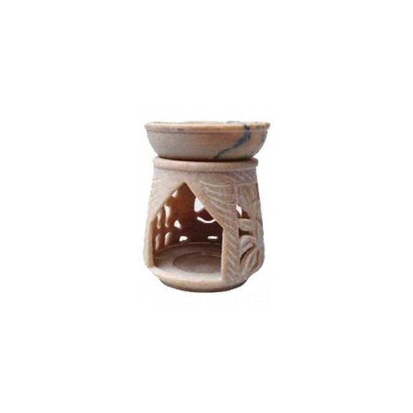 Soapstone Oil Burner - 10cm - The Hippie House
