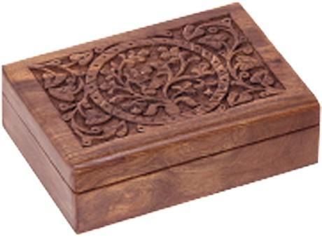 Tree of Life Carved Wooden Box - The Hippie House
