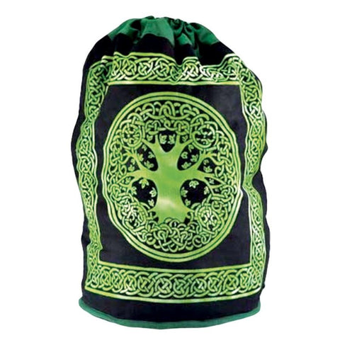 Cotton Tree of Life Drawstring Backpack - The Hippie House