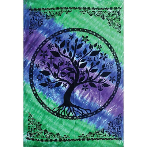 Tree of Life Multi Faith Design Tapestry - The Hippie House
