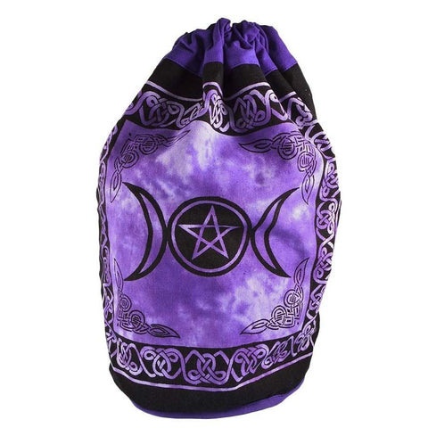Triple Moon Pentacle Drawstring Backpack - The Hippie House
