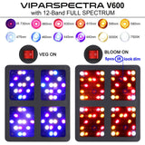 2 Viparspectra 600 Watt LED Grow Lights - The Hippie House