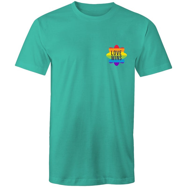 Men's Love Wins Pocket T-shirt - The Hippie House