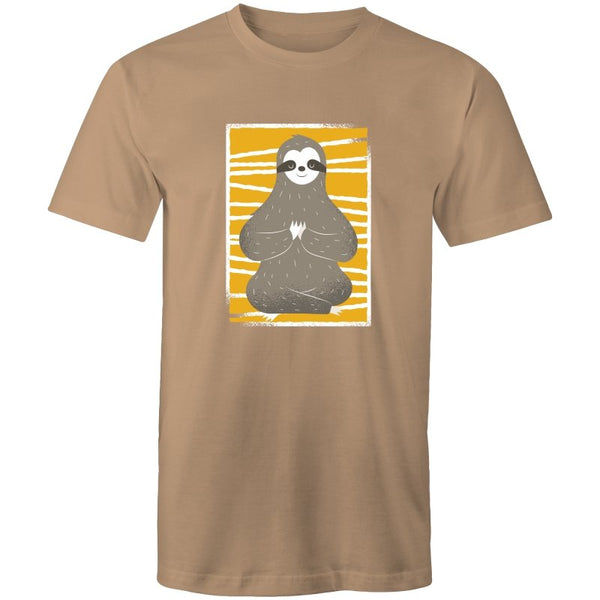 Men's Meditating Sloth T-shirt - The Hippie House