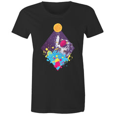 Women's Trippy Astronaut T-shirt - The Hippie House