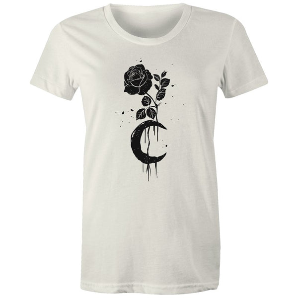Women's Moonlit Rose T-shirt - The Hippie House