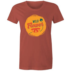 Women's Wild Flower T-shirt - The Hippie House