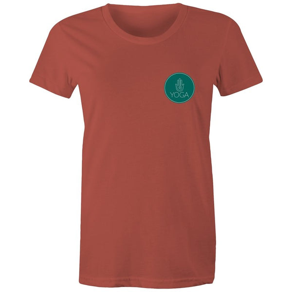 Women's Yoga Logo Pocket Print T-shirt - The Hippie House