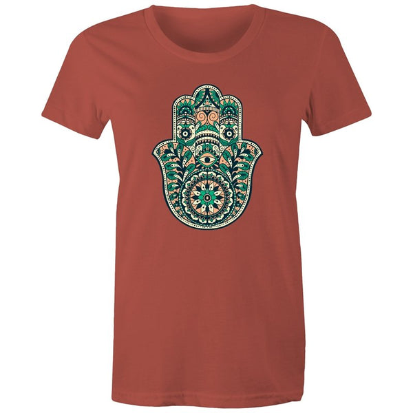 Women's Masala Hasama Hand T-shirt - The Hippie House