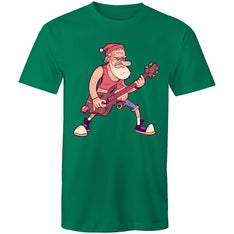 Men's Santa Christmas Rock T-shirt - The Hippie House