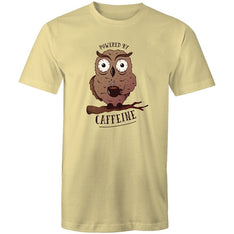 Men's Powered By Caffeine T-shirt - The Hippie House