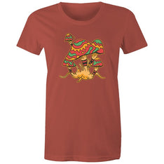 Women's Funky Mushroom T-shirt - The Hippie House
