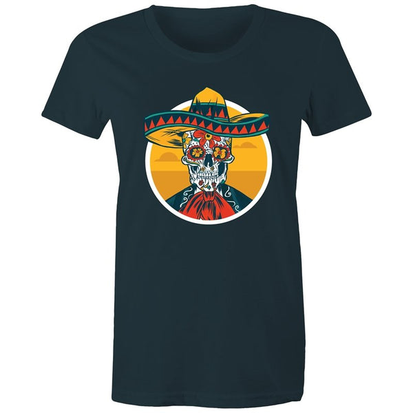 Women's Mexican Sugar Skull T-shirt - The Hippie House