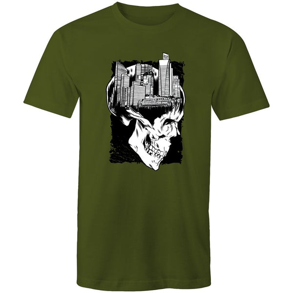 Men's City Skull Creative T-shirt - The Hippie House