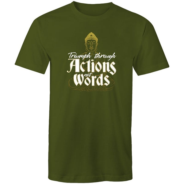 Men's Triumph Through Actions Not Words T-shirt - The Hippie House