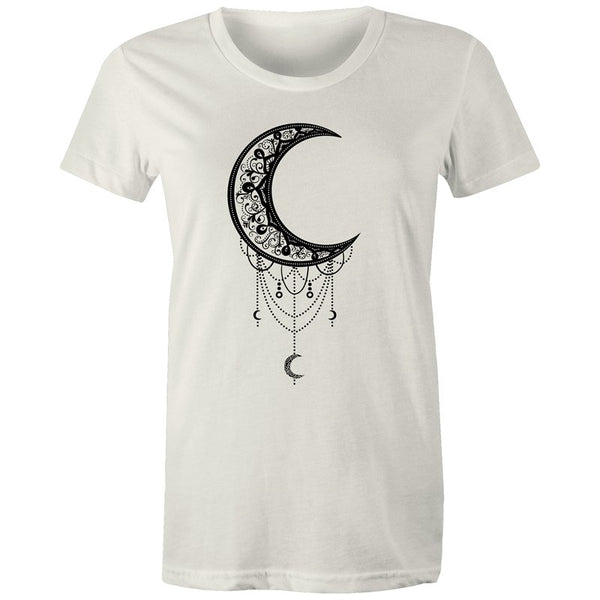 Women's Floral Moon T-shirt - The Hippie House