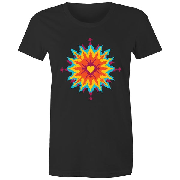 Women's Abstract Heart T-shirt - The Hippie House