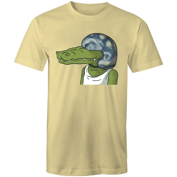 Men's Crocodile With Helmet T-shirt - The Hippie House