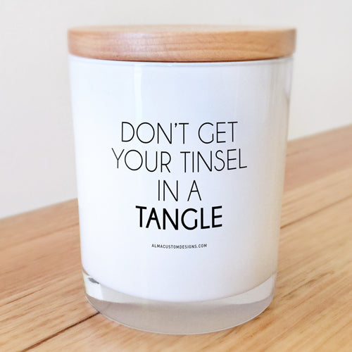 Don't get your Tinsel in a Tangle Candle