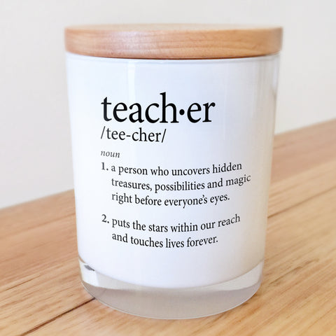 Teacher Standard Definition Candle