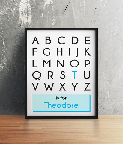 Alphabet Custom Name Print