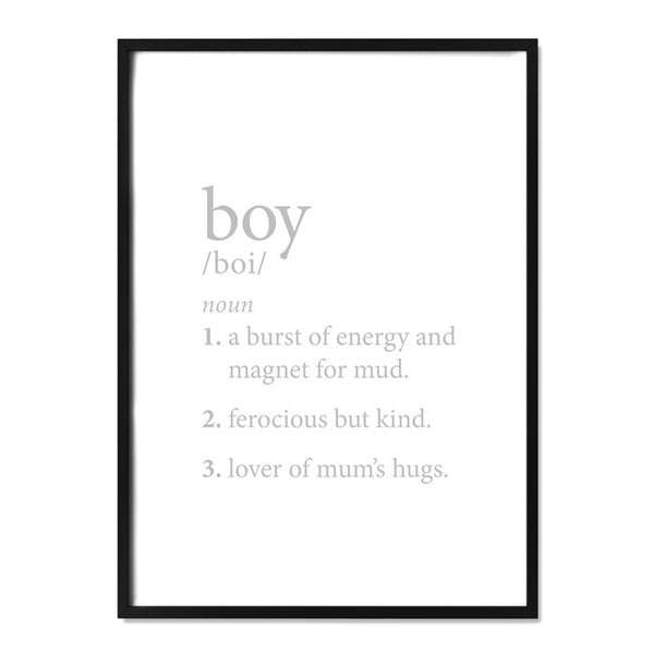 Boy Definition Grey