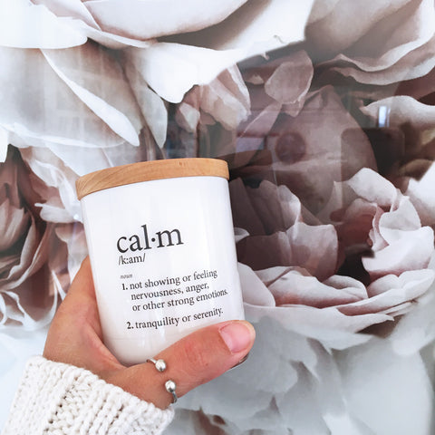 Calm Definition Candle