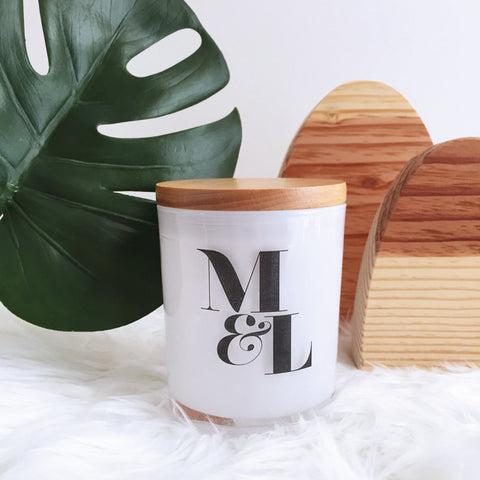 Lovers' Initials Candle