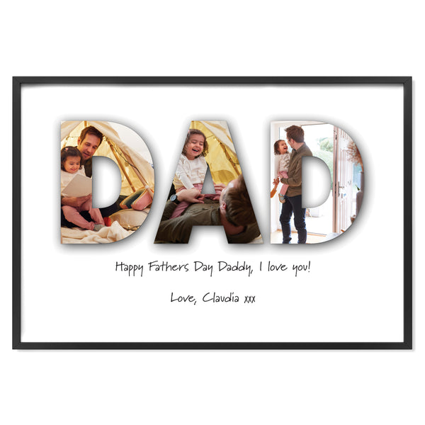 Custom Dad Photo Print