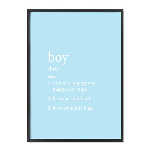 Boy Definition - Blue