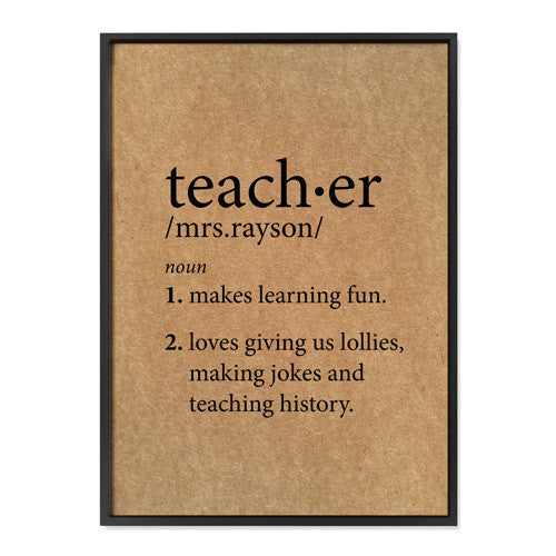 Custom Teacher Definition - Buffalo