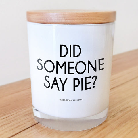 Did someone say Pie? Candle