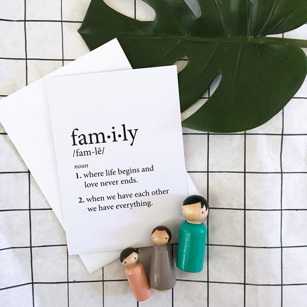 FAMILY DEFINITION GIFT CARD