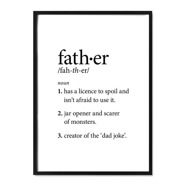Father Definition Print