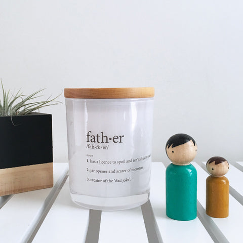 Father Definition Candle
