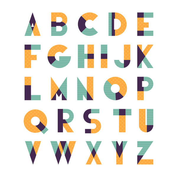 Personalised Geometric Letters