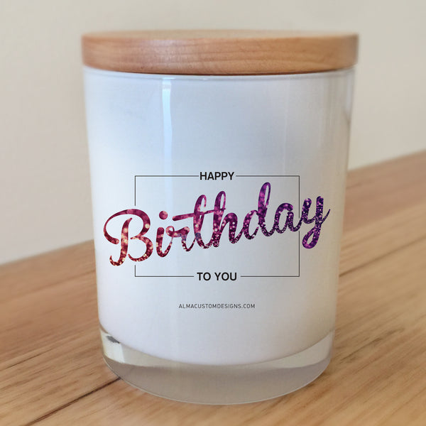 Happy Birthday to You Glitter Candle