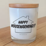 Happy Housewarming candle