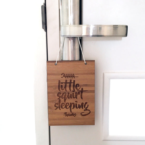 LITTLE SQUIRT SLEEPING DOOR HANGER