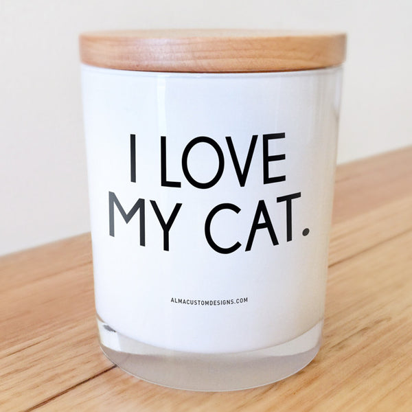 I Love my Cat Candle