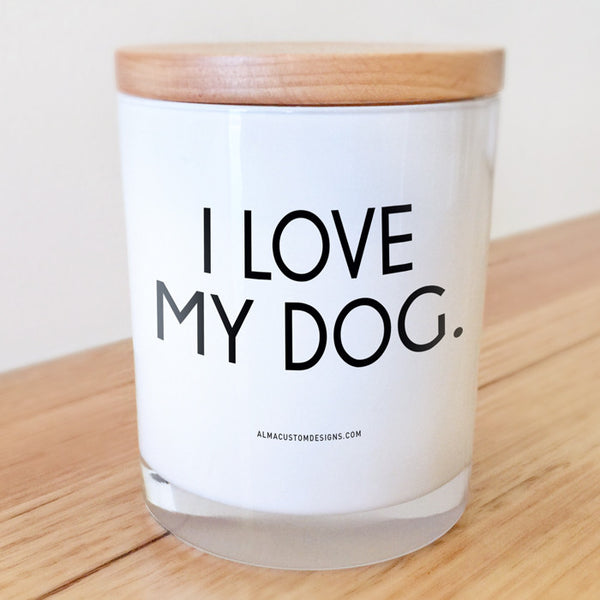 I Love my Dog Candle