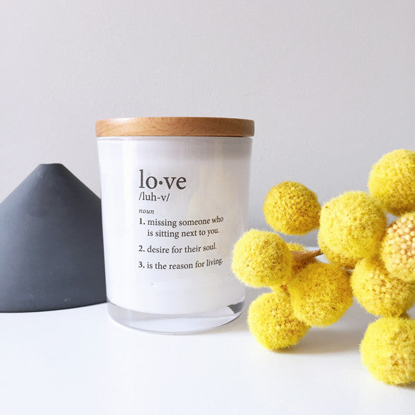Love Definition Candle