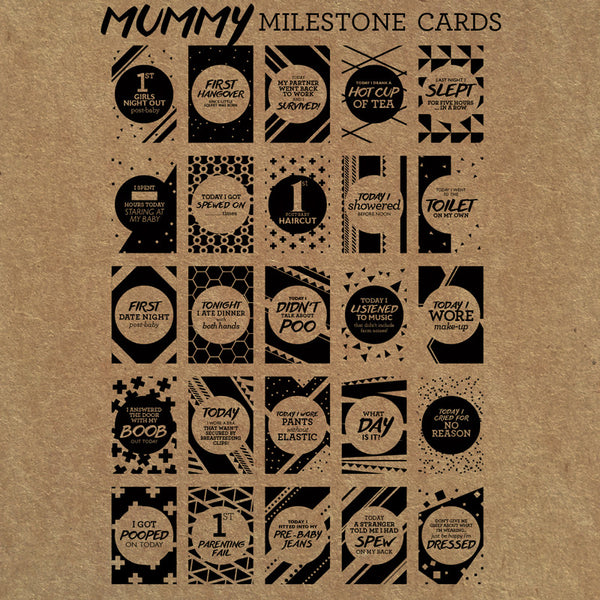 Mummy Milestone Cards - Buffalo