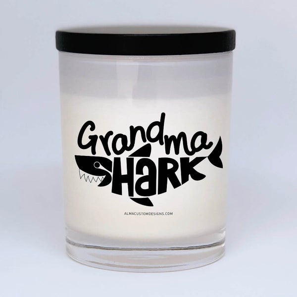 Grandma Shark Candle