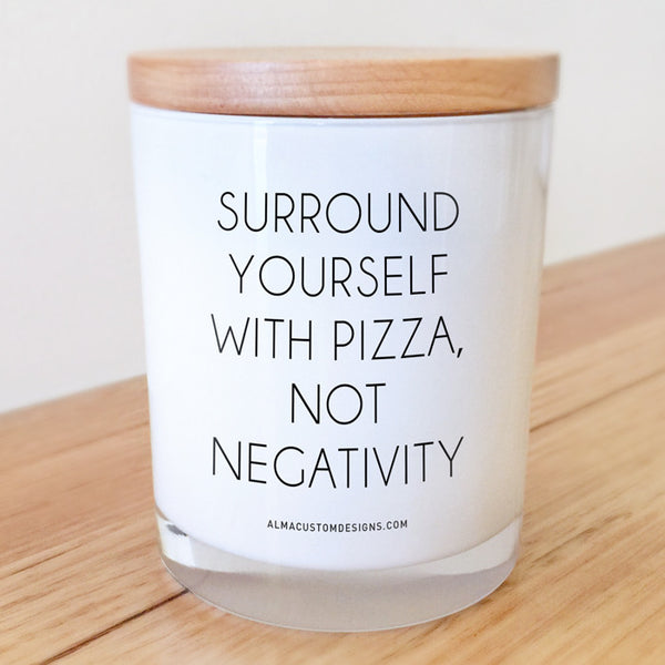 Surround yourself with pizza... Candle